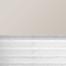 Occultant beige / Plissé blanc